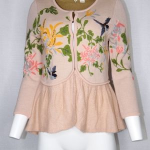 MOTH Anthropologie Winged Wonder Small Cardigan